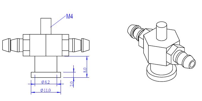 Makeblock vacuum suction Cup Connector holder 59004